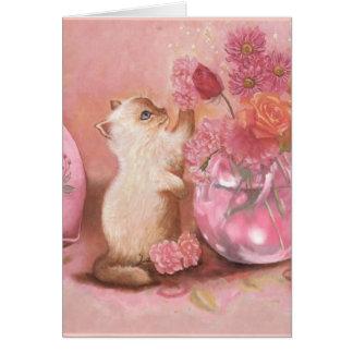 Para siempre gatito tarjeta