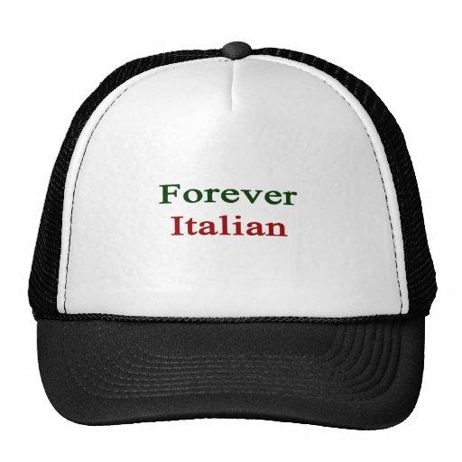 Para siempre italiano gorros bordados