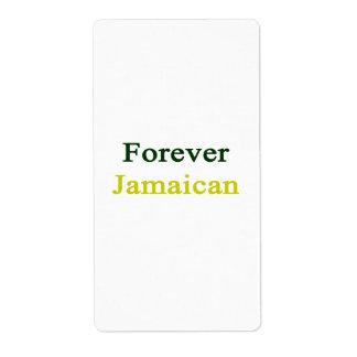 Para siempre jamaicano etiquetas de envío