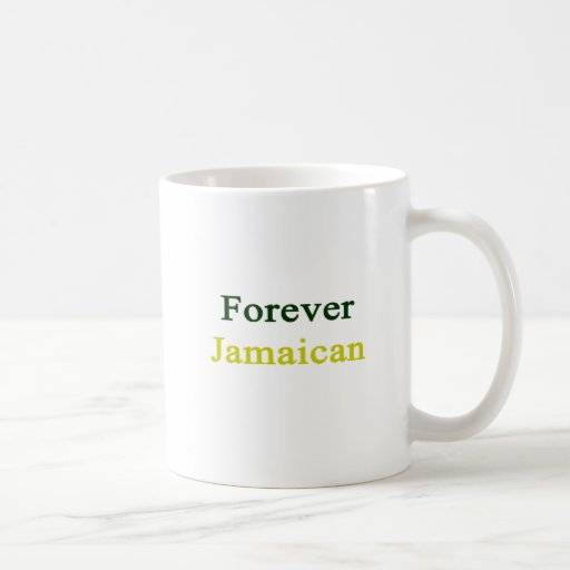 Para siempre jamaicano taza de café