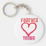 Para siempre jóvenes llaveros personalizados