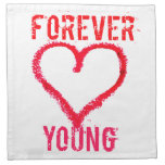 Para siempre jóvenes servilleta
