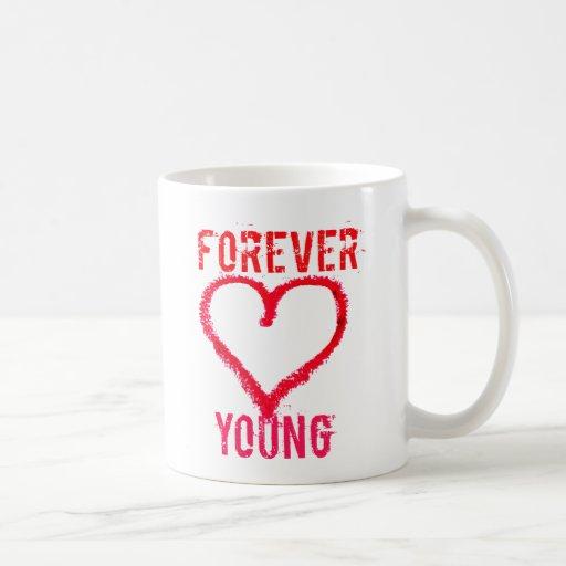Para siempre jóvenes taza
