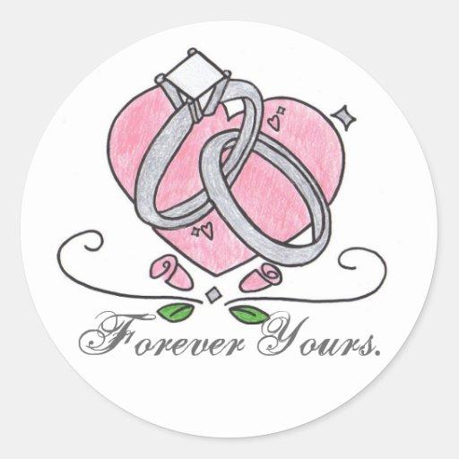 Para siempre los suyos pegatina redonda