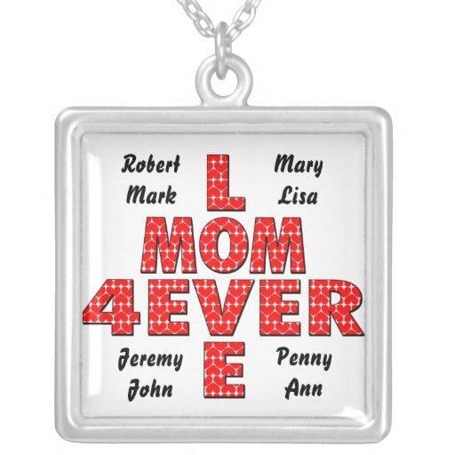 Para siempre mamá del amor colgantes