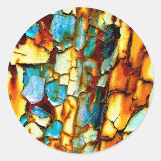 Para siempre memoria de la pintura oxidada de la pegatina redonda