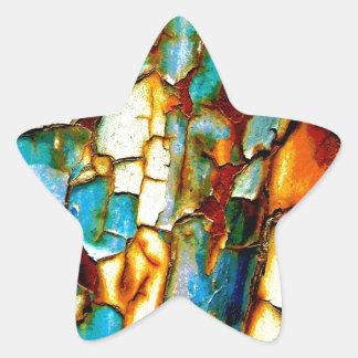 Para siempre memoria de la pintura oxidada de la pegatina en forma de estrella