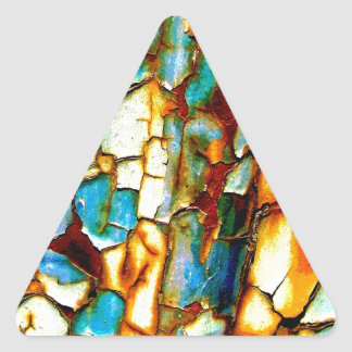 Para siempre memoria de la pintura oxidada de la pegatina triangular