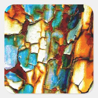 Para siempre memoria de la pintura oxidada de la pegatina cuadrada