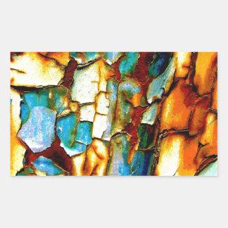Para siempre memoria de la pintura oxidada de la pegatina rectangular