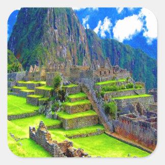 Para siempre memoria del picchu Perú del machu de Pegatina Cuadrada