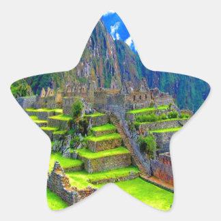 Para siempre memoria del picchu Perú del machu de Pegatina En Forma De Estrella