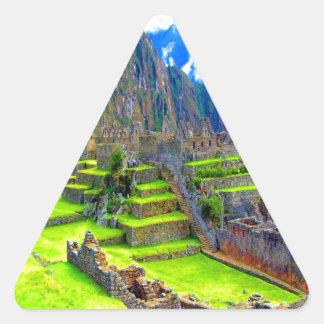 Para siempre memoria del picchu Perú del machu de Pegatina Triangular