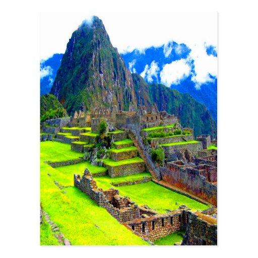 Para siempre memoria del picchu Perú del machu de  Postal