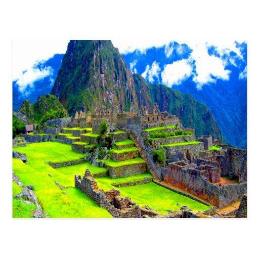 Para siempre memoria del picchu Perú del machu de  Tarjeta Postal