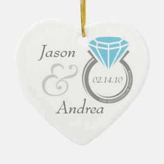 Para siempre ornamento personalizado anillo ornamento para reyes magos