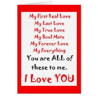 Para siempre poema del amor tarjeta de felicitación