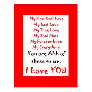Para siempre poema del amor tarjeta postal