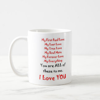 Para siempre poema del amor taza de café