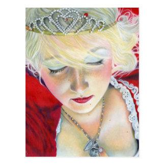 Para siempre princesa Heart Locket Postcard de la  Postales