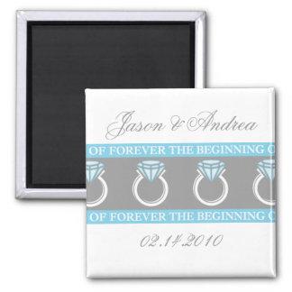 Para siempre recuerdo del boda del anillo imanes para frigoríficos