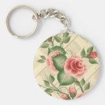 Para siempre rosas llavero personalizado