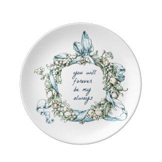 Para siempre siempre placa platos de cerámica