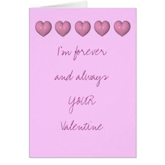 Para siempre SU tarjeta del día de San Valentín