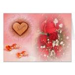 Para siempre tarjeta del amor