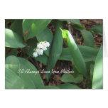 Para siempre tarjeta del día de madre del amor