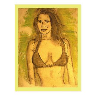 para siempre un chica del vago de la playa tarjeta postal