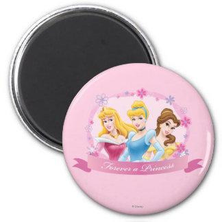 Para siempre una princesa imán redondo 5 cm