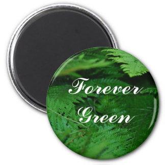 Para siempre verde imán redondo 5 cm