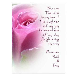 Para siempre y una postal subió día del poema