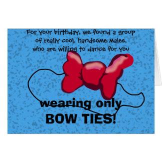 Para su cumpleaños, encontramos un grupo de tarjeta de felicitación