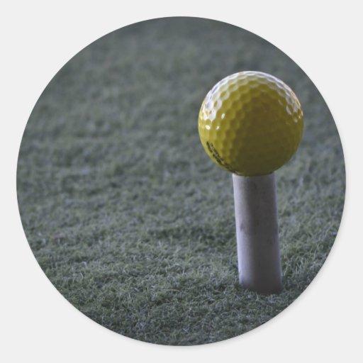 Para su golfista preferido pegatina redonda