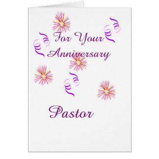 Para su pastor del aniversario tarjeta de felicitación