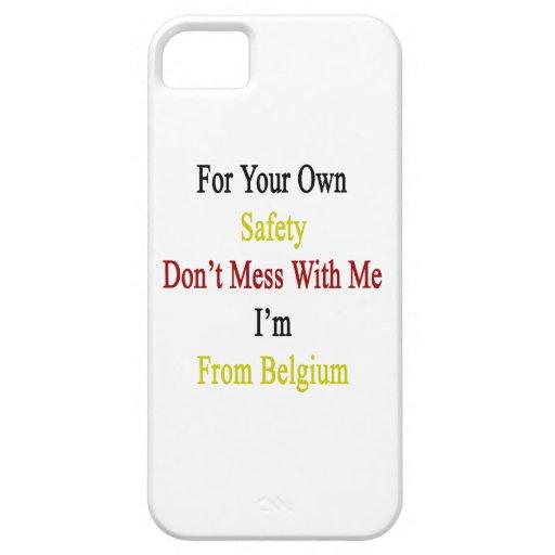 Para su propia seguridad no ensucie conmigo que iPhone 5 funda