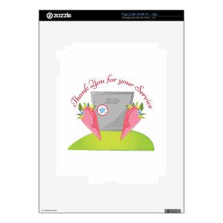Para su servicio calcomanías para el iPad 2
