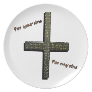Para sus pecados para mi placa de los pecados platos de comidas