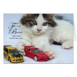 Para sus tarjetas del cumpleaños (gato)