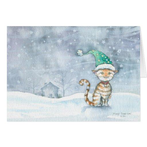 Para tarjeta del día de fiesta de Santa que espera