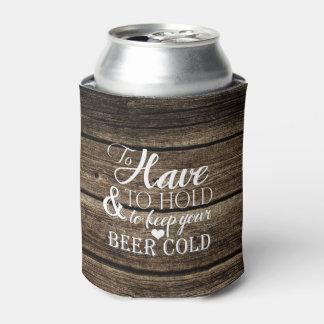 Para tener que llevar a cabo el boda rústico de enfriador de latas
