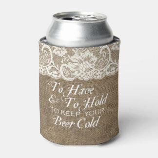 Para tener y llevar a cabo boda de la arpillera de enfriador de latas