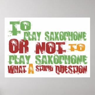 Para tocar el saxofón póster