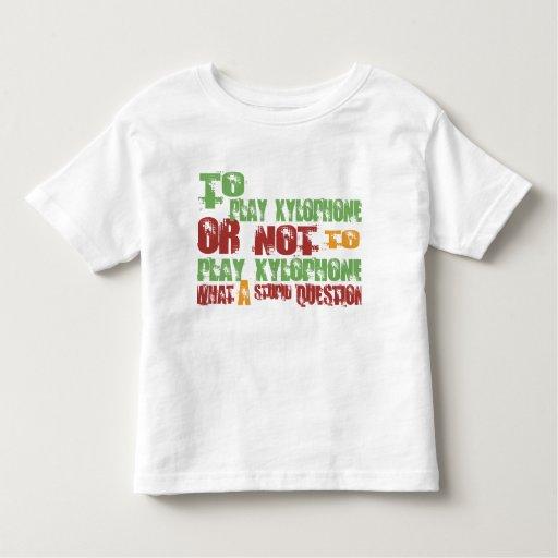 Para tocar el xilófono t-shirt