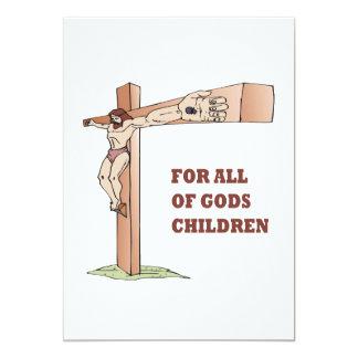 """Para todos los niños de dioses invitación 5"""" x 7"""""""