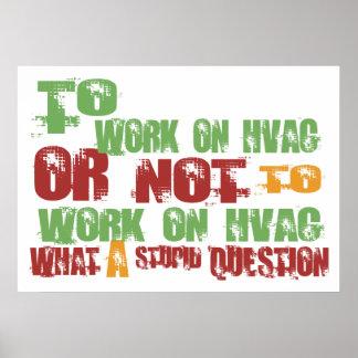 Para trabajar en la HVAC Impresiones