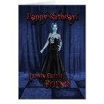 Para un amigo del gótico, una tarjeta de cumpleaño