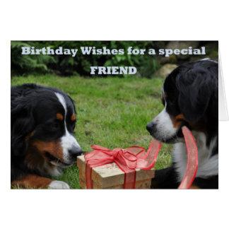 Para un amigo especial tarjeta de felicitación